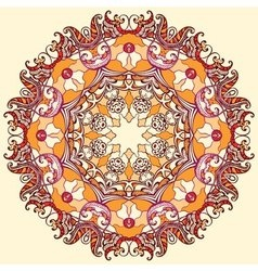 Round floral ornament mandala vector image
