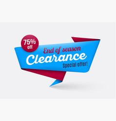 sale banner template special offer end season vector image