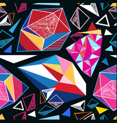 seamless geometric pattern triangles vector image