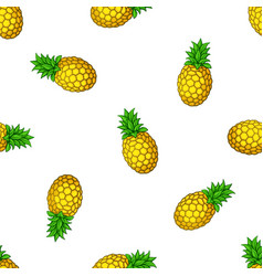 seamless pattern with falling pineapples vector image