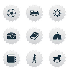 Set of simple baby icons vector