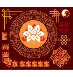 set oriental design elements vector image