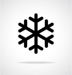 Simple snowflake icon vector