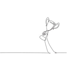 Single continuous line drawing vector