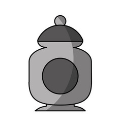 sugar pot isolated icon vector image