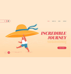 summertime nature vacation landing page template vector image