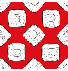sushi seamless pattern design element vector image