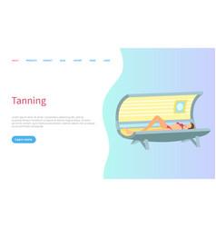 Tanning spa salon procedure sunroom skin treatment vector