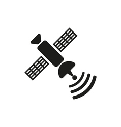 The satellite icon TV and broadcasting vector
