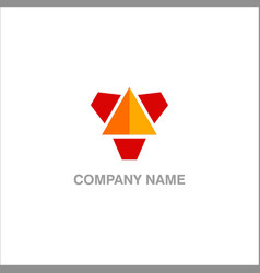 triangle technology design logo vector image