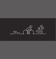 Triathlon flat design vector