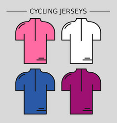 Types of cycling jerseys vector
