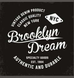 vintage brooklyn typography for t-shirt print vector image