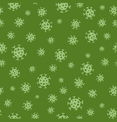 Virus seamless pattern abstract bacterium vector