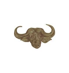 African Buffalo Head Drawing vector image vector image