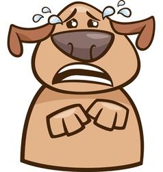crying dog cartoon vector image vector image