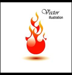 Fire ball vector image