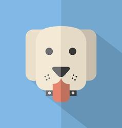 Modern flat design dog icon vector