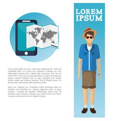 travel flyer man catalog vacation vector image