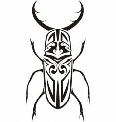 tribal stag beetle tattoo vector image vector image