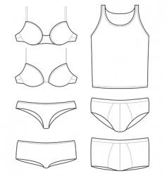 underwear templates vector image vector image