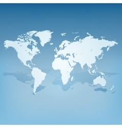 World map with shadow 3d concept vector image