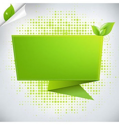 Abstract Background With Origami vector image