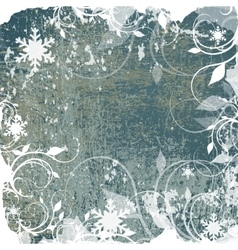 Abstract winter grunge background vector image