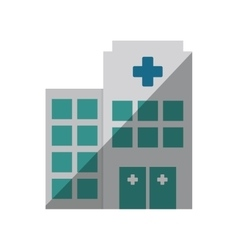 building hospital medicine healthcare shadow vector image