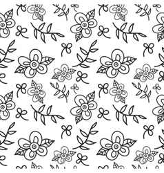 Floral seamless pattern background with leaves vector