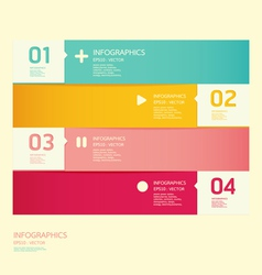 Modern soft color design template vector
