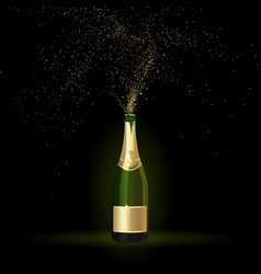 Champagne with Gold Confetti vector image