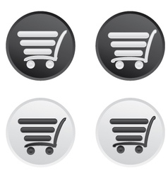 Icon set with a cart for a supermarket vector image vector image