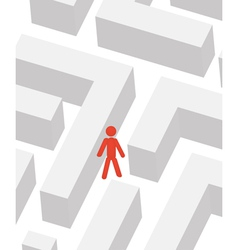 man in labyrinth vector image