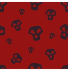 Red Skull Pattern Small vector image