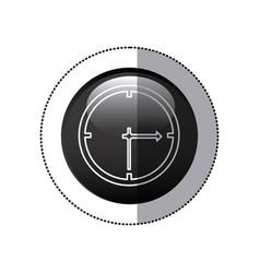 sticker black circular frame with wall clock icon vector image vector image