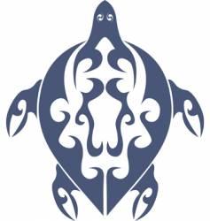 tribal turtle tattoo vector image