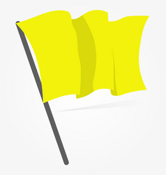 yellow flag icon isolated on white background vector image