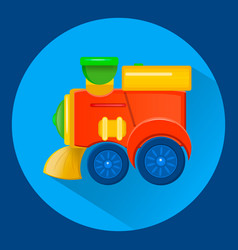 a childrens toy train flat syle vector image