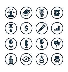 award icons universal set vector image vector image