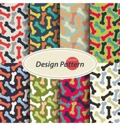 Dog Bone pattern set vector image vector image