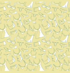 Female underwear doodle pattern vector