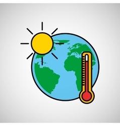 warming global environment concept icon vector image