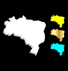 3d map of brazil vector image