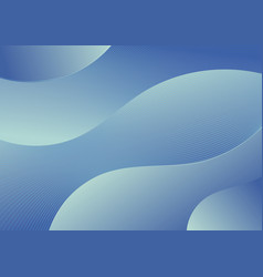 Abstract blue gradient wave shape background with vector