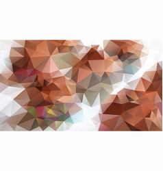 Abstract irregular polygon background brick brown vector