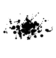 Abstract watercolor aquarelle hand drawn black vector