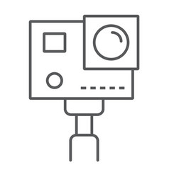 Action camera thin line icon electronic digital vector