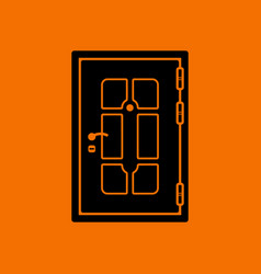apartments door icon vector image
