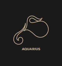 Aquarius Horoscope Icon vector image